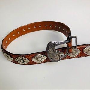 Accessories - Vintage Italian Leather Brown Belt